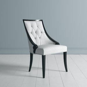 dining restaurant chair modenese 3D model
