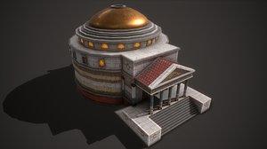 ancient pantheon 3D