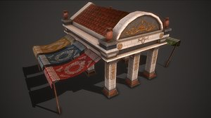 3D model ancient market