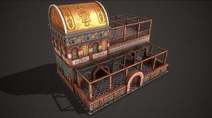 3D model ancient tavern 01