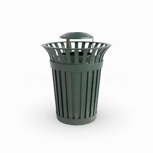 3D modeled bin trash