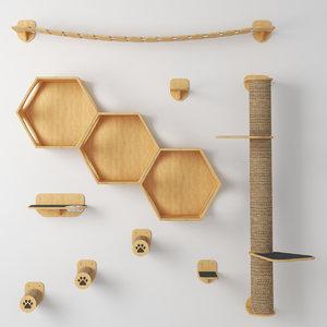 cat furniture set 3D model