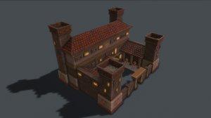 3D ancient barracks model