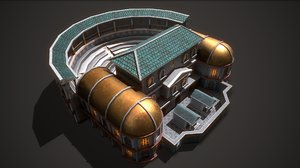 3D ancient theater 01 model