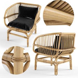nordal lounge chair rattan model