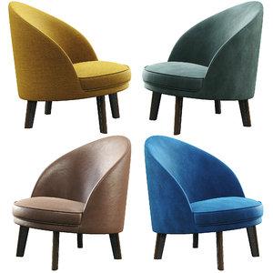 jules armchair arflex 3D