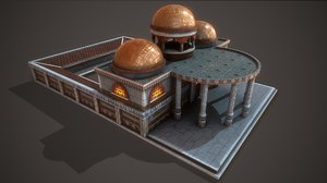 3D ancient baths model