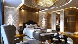 hotel room suite 3D