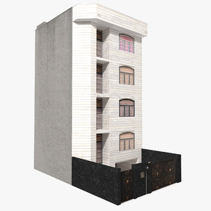 apartment house building 3D