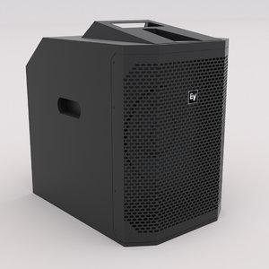 electro - voice ev 3D model