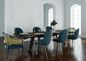 3D table dining furniture