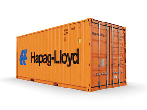 shipping container hapag-lloyd 20 3D model