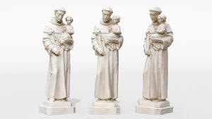 - carved statue st model