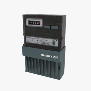 3D meters electricalmeter model