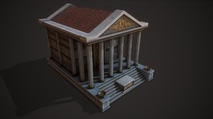 3D model ancient temple jupiter