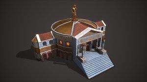 3D ancient senate model