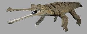 gavial gharial 3D model