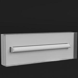 wall mounted emergency light lamp 3D model