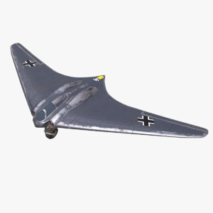 3D model horten ho 229 pbr