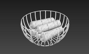 towel vase 3D model