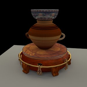 chinese display stand pot model