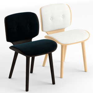 3D v-ray nut dining chair