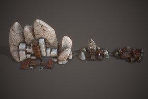 3D ancient mines model