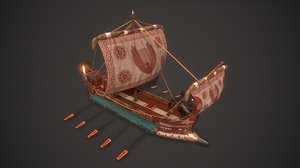 3D ancient ship 02