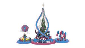 christmas tree milu deer 3D model