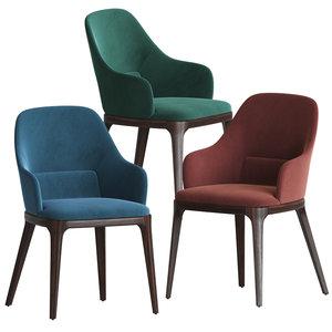3D model frag sedia doa dining chair