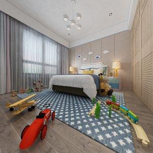 kid bedroom toys 3D model