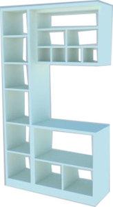 3D open rack pantry model