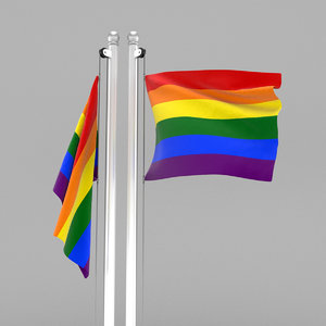 flag pride 3D model