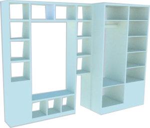 3D open rack wardrobe
