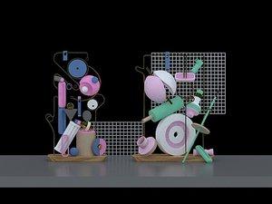 3D beauty chen furnishing art