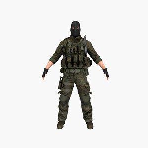 terrorist v6 3D model