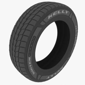 3D tire kelly winter model