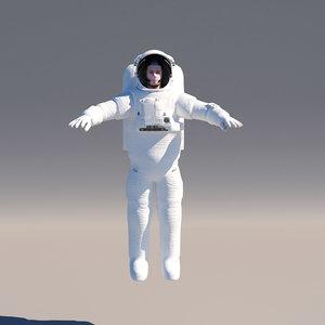 3D model astronaut pbr space suit