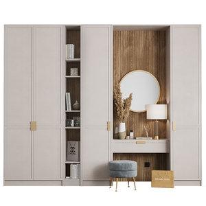 composition hallway ottoman mirror 3D model