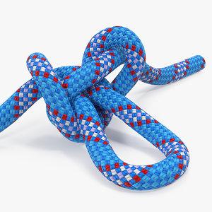alpine butterfly loop knot 3D model