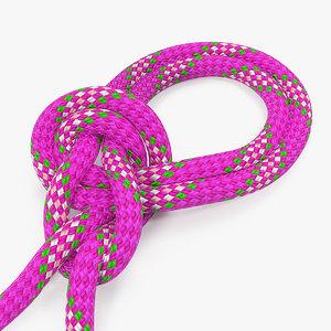 bowline bight knot rope line model