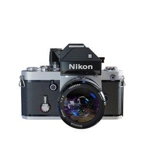 nikon f2 film camera 3D