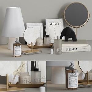 decorative set table zara 3D model