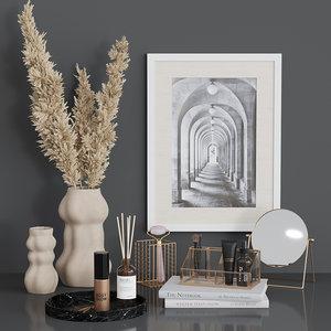 3D decorative set dressing table