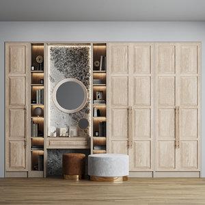 composition hallway mirror ottomans model