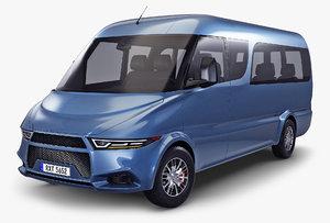 3D generic passenger van v model