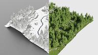 Meadow by season in Blender