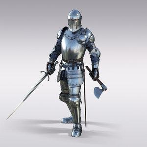 knight plate 3D model