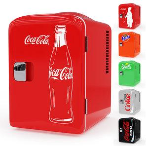 mini fridge 3D model