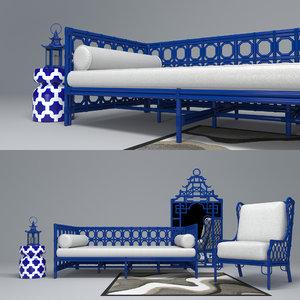 3D model blueberry set